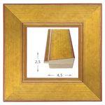 Κορνίζα ξύλινη - Χρυσή με Κόκκινα νερά 2.5εκ.Χ4.5εκ.