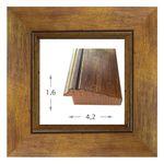 Κορνίζα ξύλινη - Χρυσή με Κόκκινα νερά 1.6εκ.Χ4.2εκ.