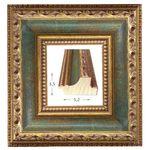 Κορνίζα ξύλινη - Χρυσή-πράσινη 3.5εκ.Χ5.3εκ.