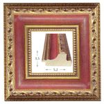 Κορνίζα ξύλινη - Χρυσή κόκκινη 3.5εκ.Χ5.3εκ.