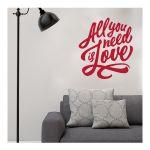 Αυτοκόλλητο τοίχου All you need is Love