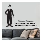 Αυτοκόλλητο τοίχου Charlie Chaplin 1