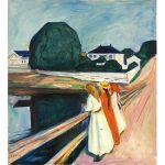 Αφίσα Edvard Munch - The girls on the bridge 1927