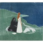 Αφίσα Edvard Munch - Two women on the beach 1898