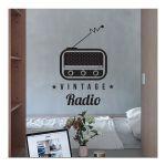 Αυτοκόλλητο τοίχου  Vintage Radio