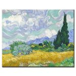 Πίνακας Vincent Van Gogh - A Wheatfield with Cypresses 1889
