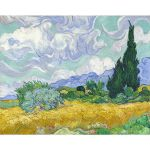 Αφίσα Vincent Van Gogh - A Wheatfield with Cypresses 1889