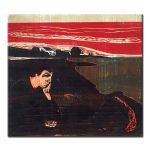 Πίνακας Edvard Munch -  Evening Melancholy 1896