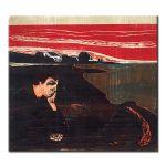Πίνακας Edvard Munch -  Evening Melancholy 1896