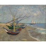 Αφίσα Vincent Van Gogh - Fishing Boats on the Beach at Saintes-Maries 1888