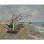 Αφίσα Vincent Van Gogh - Fishing Boats on the Beach at Saintes-Maries 1888