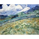 Αφίσα Vincent Van Gogh -  Landscape from saint remy 1889