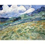 Αφίσα Vincent Van Gogh -  Landscape from saint remy 1889