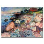 Πίνακας Edvard Munch -  Shore with red house 1904