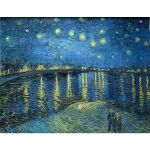 Αφίσα Vincent Van Gogh - Starry Night over the Rhône 1888
