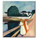 Πίνακας Edvard Munch - The girls on the bridge 1927