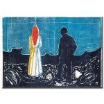 Πίνακας Edvard Munch - Two people: The lonely ones 1899