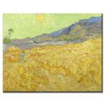Πίνακας Vincent Van Gogh - Wheatfield with reaper 1889