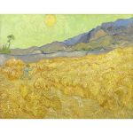Αφίσα Vincent Van Gogh - Wheatfield with reaper 1889