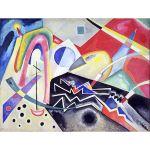 Αφίσα Wassily Kandinsky - White zig zags 1922