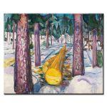 Πίνακας Edvard Munch -  The Yellow Log 1912