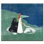 Πίνακας Edvard Munch - Two women on the beach 1898