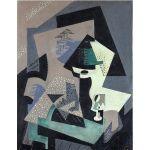 Αφίσα María Blanchard - Still life with green lamp 1917