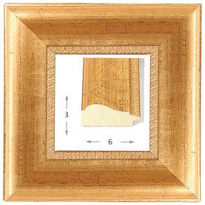 Κορνίζα ξύλινη - Χρυσή ΙΙ 3εκ.Χ6εκ.