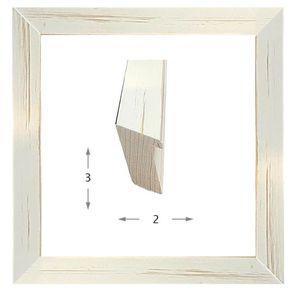 Κορνίζα ξύλινη - Λευκό ντεκαπέ 3εκ.Χ2εκ.