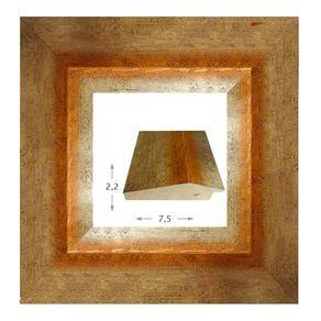 Κορνίζα ξύλινη - Χρυσή με πορτοκαλί νερά 2.2εκ.Χ7.5εκ.