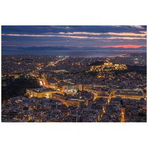 Athens nightfall view