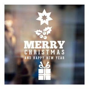 Αυτοκόλλητο Χριστουγεννιάτικο βιτρίνας - τοίχου 17