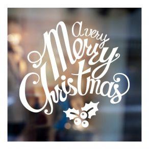 Αυτοκόλλητο Χριστουγεννιάτικο βιτρίνας - τοίχου 19