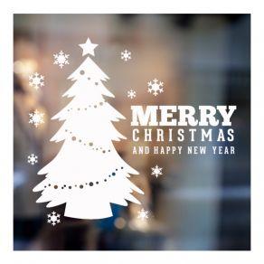 Αυτοκόλλητο Χριστουγεννιάτικο βιτρίνας - τοίχου 20