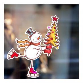 Αυτοκόλλητο Merry christmas Snowman 3
