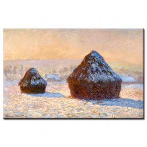 Πίνακας Claud Monet - Wheatstacks snow effect  morning 1891